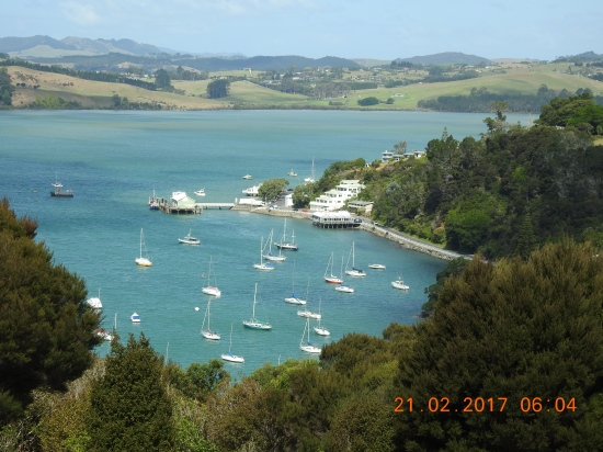 Stunning hill-top view of Mangonui, Doubtless Bay, NZ